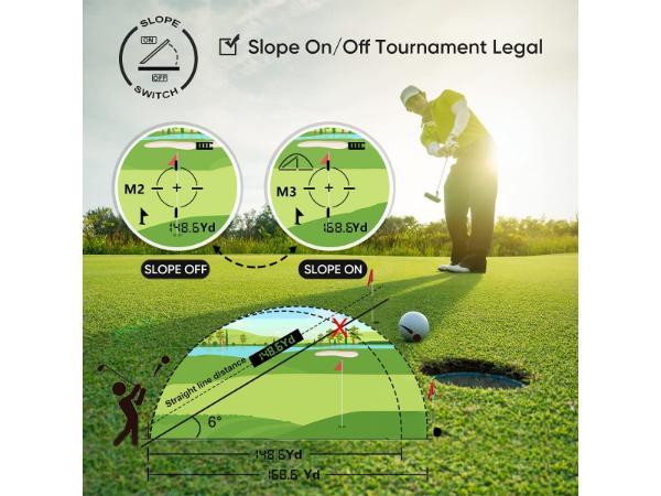 WOSPORTS Golf Rangefinder with slope 3