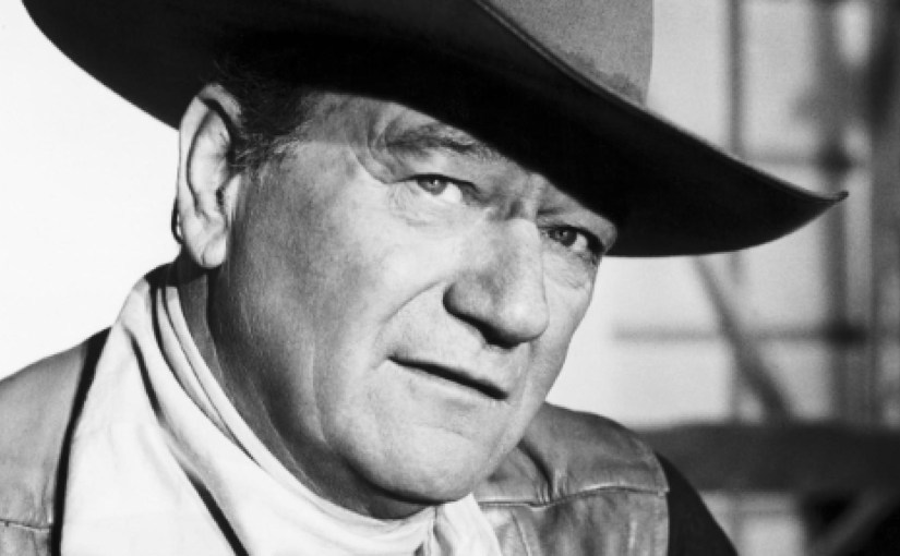 John Wayne as a cowboy