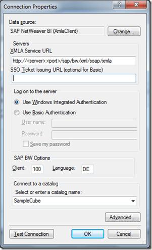 SAP Integration – Part 1: Microsoft BI on top of SAP BW (6/6)