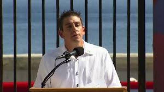 Richard Blanco at U.S. Embassy in Havana