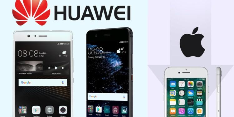 Huawei liegt bei den weltweiten Smartphone-Verkäufen hinter Apple