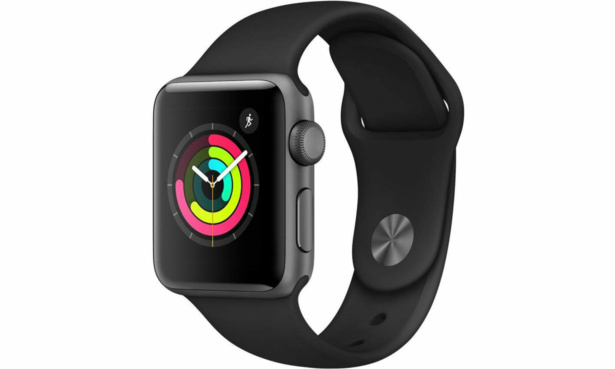 Apple Watch S3 2018 GPS 38mm Space Grey Alu Black Sport Band INLINE 1