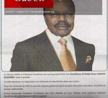 FRANCE-GABON : Sobre cérémonie en mémoire d'OMAR BONGO ONDIMBA