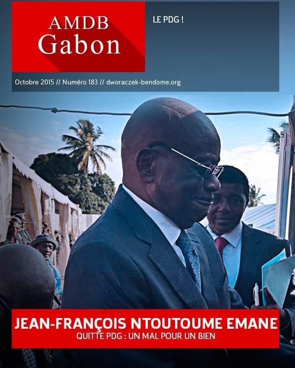 Gabon- Jean-François Ntoutoume Emane  quitte le PDG : Un mal pour un bien !