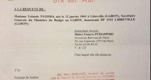 FRANCE : PLAINTE DE YOLANDE NYONDA CONTRE JONAS MOULENDA