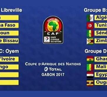 Tirage-CAN 2017: le Gabon et le Cameroun dans le groupe A