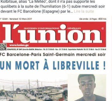 Un fan Gabonais du PSG tue son ami qui se moquait de la déroute des Parisiens face au FC Barcelone