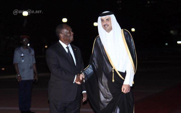 L'Emir qatari son Altesse Sheikh Tamin Bin Thani a quitté Abidjan pour Accra