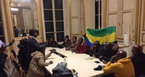 France - Paris : Des opposants gabonais occupent un hôtel Pozzo di Borgo  de la famille Bongo