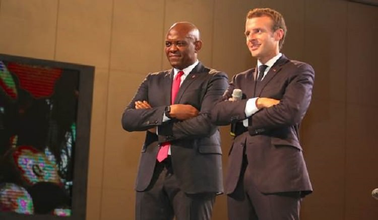Emmanuel Macron et Tony Elumelu - Fondation Tony Elumelu : Emmanuel Macron et 2000 entrepreneurs africains