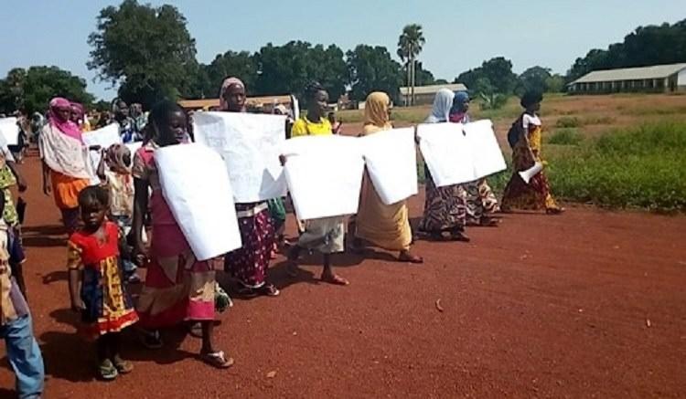 Centrafrique : Manifestations contre les agressions et braquages des humanitaires
