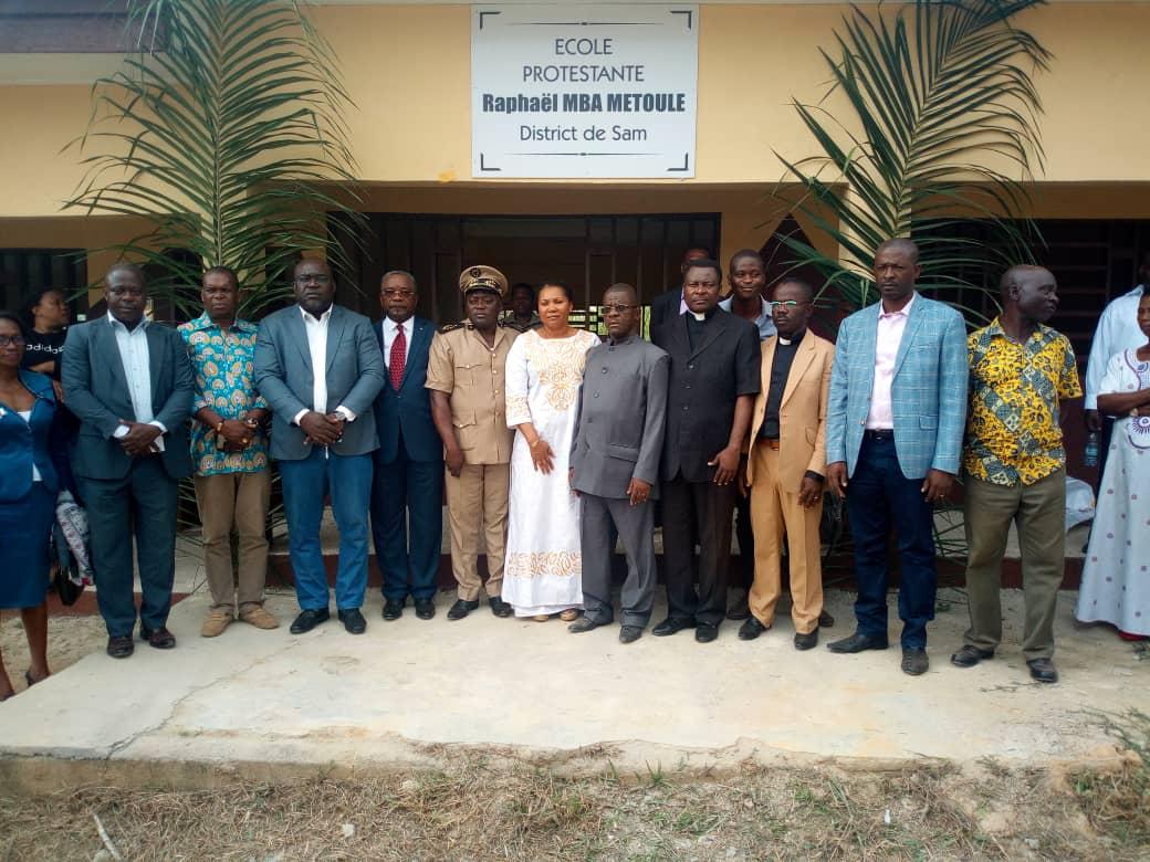 """WhatsApp Image 2018 08 27 at 13.08.17 1 - Gabon : Inauguration de la nouvelle école de """"Sam"""" par Françoise ASSENGONE OBAME"""
