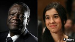 Denis Mukwege et Nadia Murad, prix Nobel de la paix 2018.