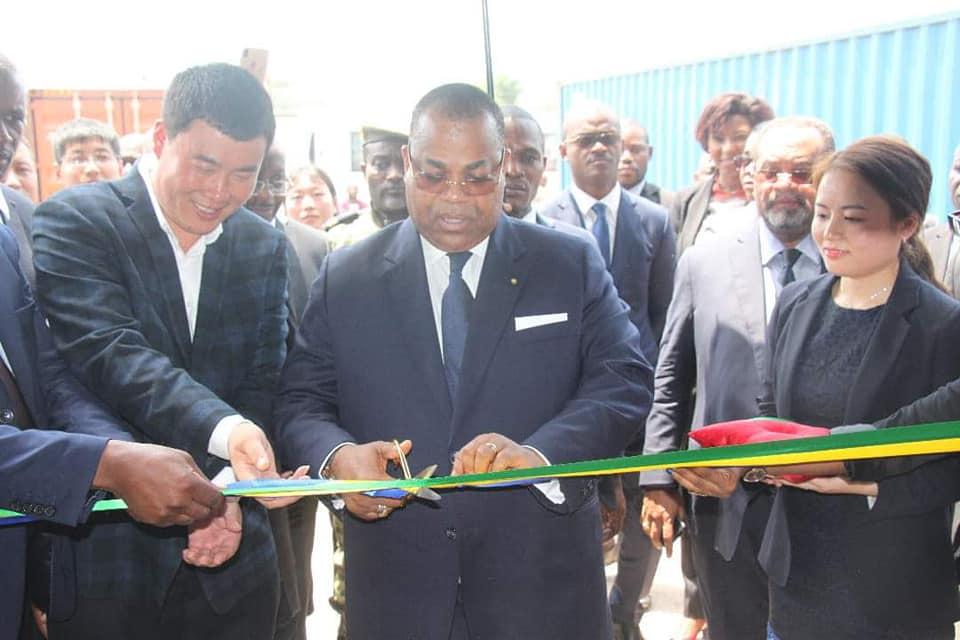 GABON/ZES de Nkok/ Bois : Julien Nkoghe Bekale inaugure la JIN SHAN WOOD