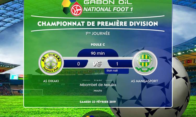 Gabon Oil National Foot 1 : L'AS Mangasport gagne sans convaincre