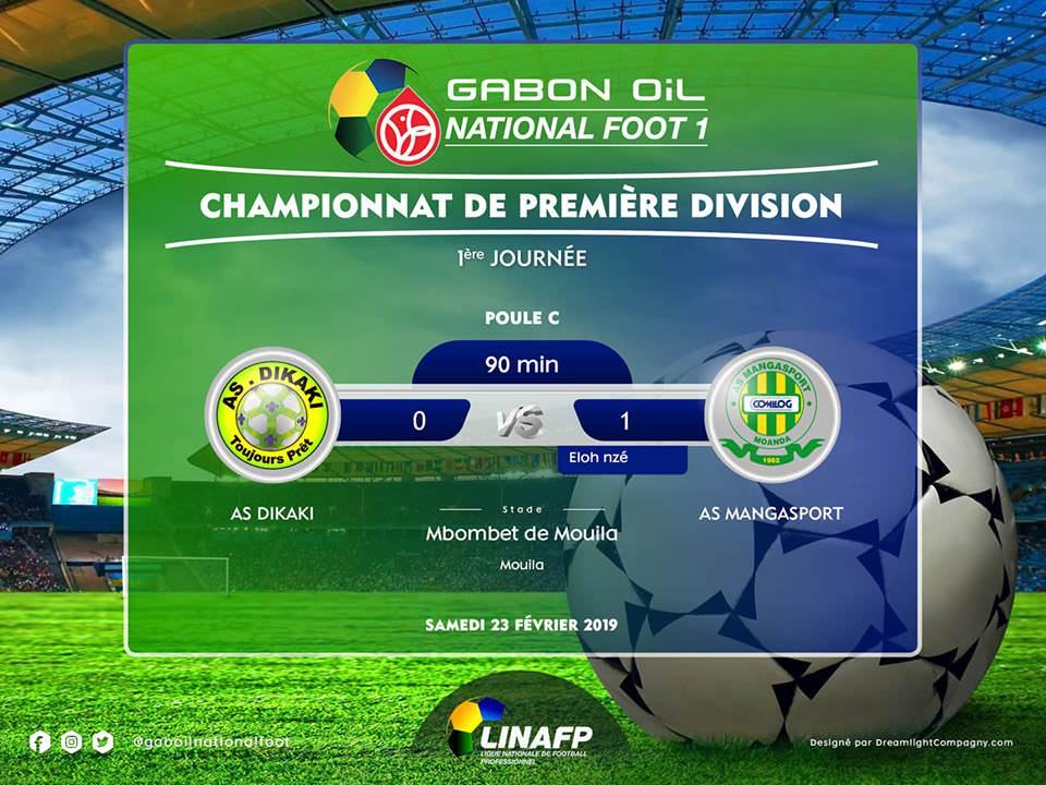 Gabon Oil National Foot 1 : L'AS Mangasport gagne sans convaincre