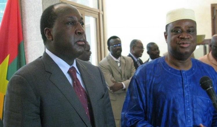 zephirin diabre et assimi kouanda - Dialogue politique au Burkina : L'opposition toujours en attente d'une feuille de route