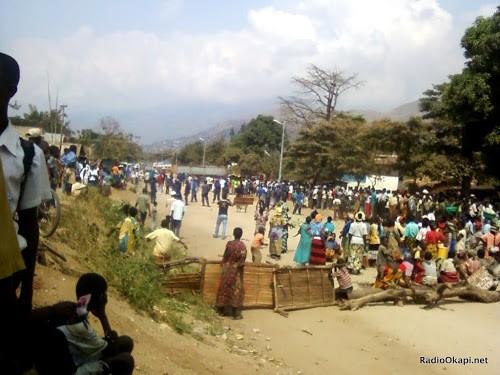 Bukavu : manifestations et routes barrées à la suite des meurtres des 3 personnes dans la commune de Bagira