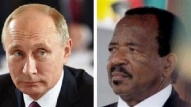 Soutien de Poutine à Biya face aux Anglo-Saxons qui veulent démembrer le Cameroun