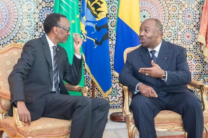 Ali Bongo et Paul Kagamé - Gabon : Paul Kagame satisfait de la récupération d'Ali Bongo Ondimba