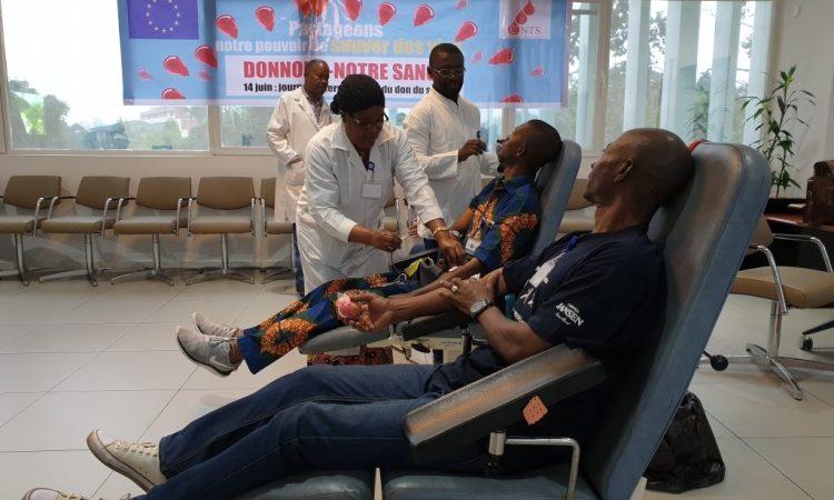 Congo/Santé : Don de sang des agents de l'UE au CNTS