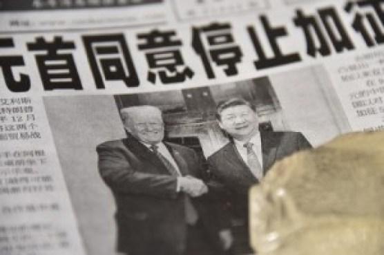 Donald Trump et Xi Jinping le 3 décembre 2018. Image: AFP