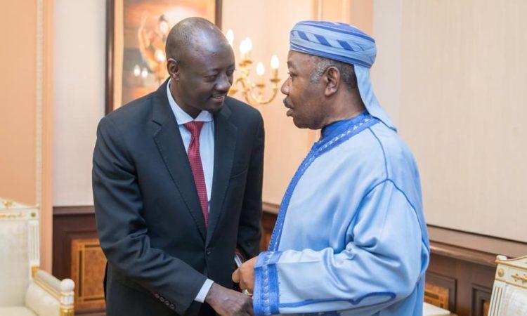Rencontre entre Ali Bongo Ondimba et le gouverneur de la BEAC Abbas Mahamat Tolli