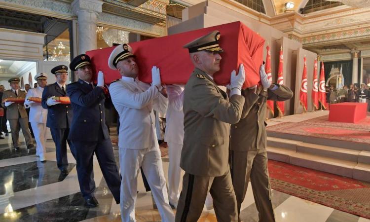 Tunisie/Décès : Dernier hommage au président tunisien Beji Caïd Essebsi