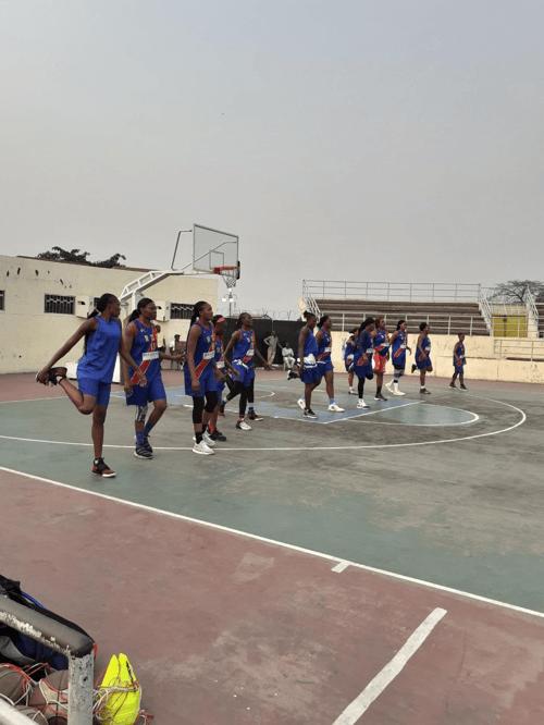 Les Léopards -dames basket à l'entrainement au stadium des martyrs, le 6 août 2019. Photo Radio Okapi/ Nana Mbala