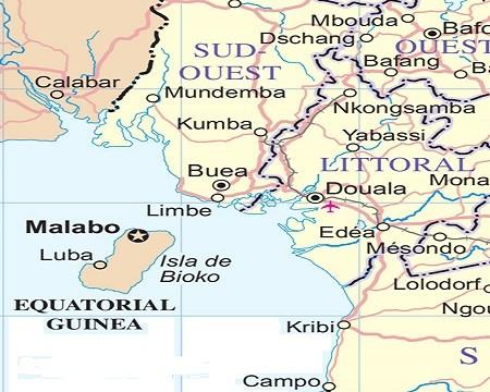 buea area cameroon map - Projet gazier: un tribunal juge légitime une demande de saisie de 9 milliards de dollars contre le Nigeria