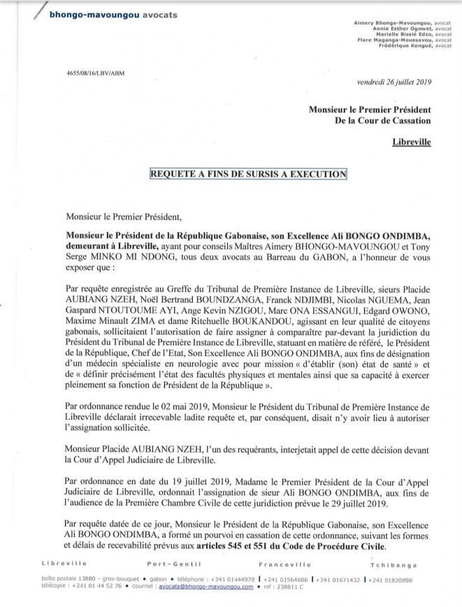 """Gabon/""""Groupuscule des 10"""" Contre Ali BONGO : IL N'Y A PAS DE VICTOIRE"""