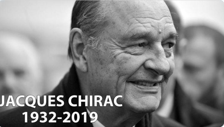 France/Nécrologie : disparition de l'ancien Président de la République M. Jacques CHIRAC, à l'âge de 86 ans.