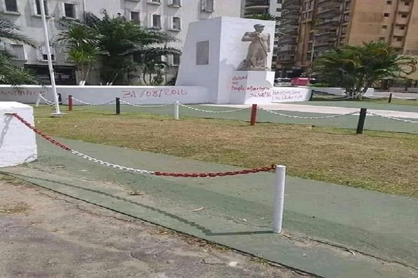 Le monument du Capitaine Charles Ntchoréré - Gabon : Qui a vandalisé le monument du capitaine Charles Ntchoréré ?