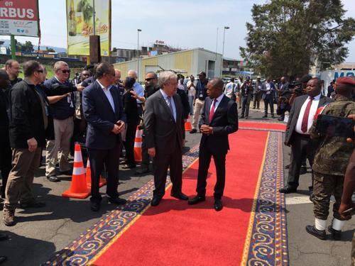 RDC : arrivée d'António Guterres à Goma