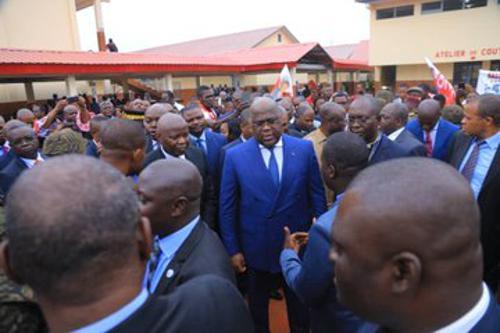 Le Chef de l'État a coupé le ruban inaugural de l'institut Mokengeli rénové le 2/9/2019. Photo Présidence RDC.