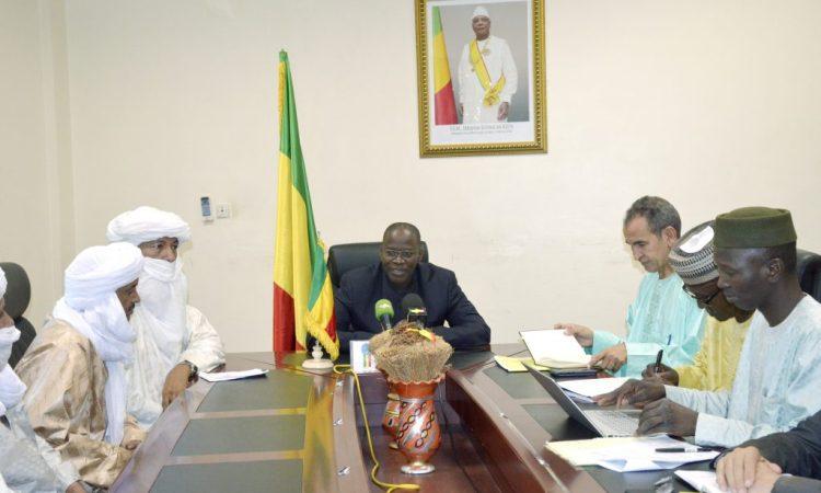 Mise en œuvre de l'Accord pour la paix et la réconciliation : Le ministre Bouaré rencontre les autorités intérimaires de la Région de Kidal