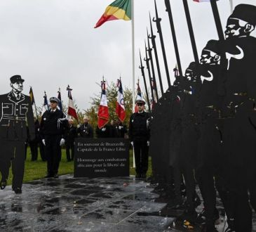 France: une stèle en hommage aux soldats africains de la Seconde Guerre mondiale