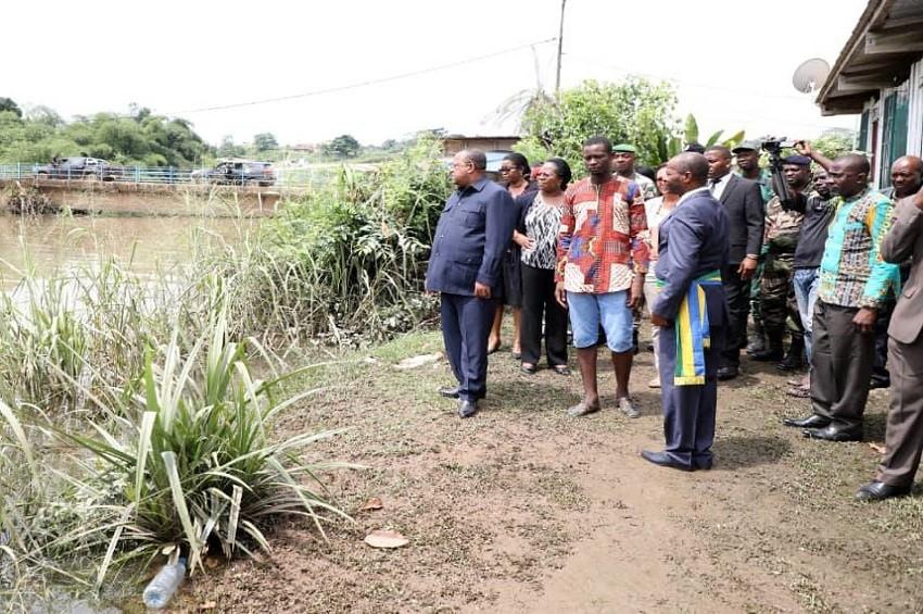 Inondations à Ndjolé et Lambaréné : Le réconfort d'Ali Bongo Ondimba aux sinistrés