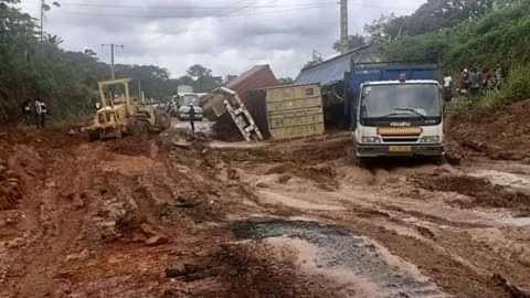 Dégradation de la nationale 1 : Le mal persiste entre Ntoum et Kango