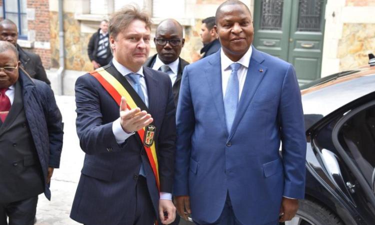 B9722672996Z.1 20200221170204 000GT8FIOOST.1 0 - Le président centrafricain à la rencontre des chefs d'entreprise du Hainaut