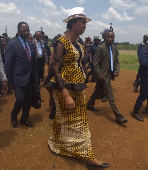 La présidente de l'Assemblée nationale Jeanine Mabunda est arrivée le 16/02/2020 à Goma pour une visite de travail au Nord-Kivu. Radio Okapi/Photo Martial Papy Mukeba.