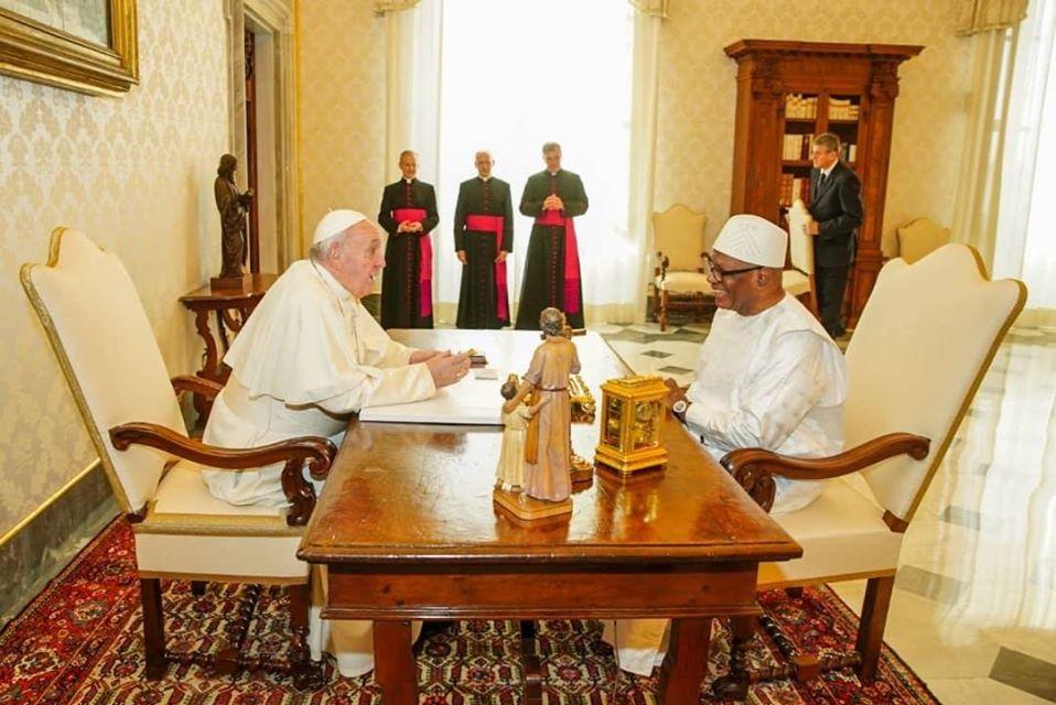 Vatican : Le président Keïta reçu par le Pape François