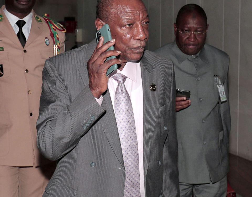 CONDE 3 - RESULTATS DU REFERENDUM SUR FOND D'INTERDICTION DE MANIFS EN GUINEE