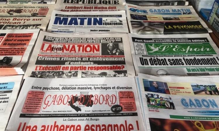 Gabon / Médias : La Revue de la presse gabonaise de la semaine du 24 février au 1er mars 2020