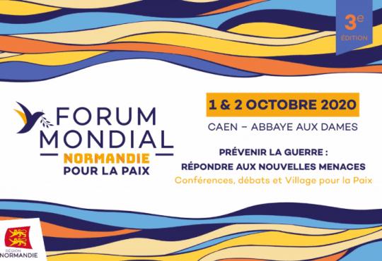FORUM MONDIAL NORMANDIE POUR LA PAIX, 1&2 octobre 2020