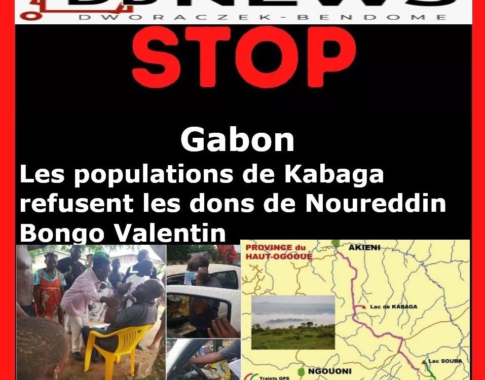 Montage final Kabaga Juin 2020 - Gabon : Les populations de Kabaga refusent les dons de Noureddin Bongo Valentin