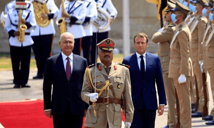 02 09 2020 ddddddddddd Irak - Diplomatie : Visite éclair du Président Emmanuel Macron en Irak