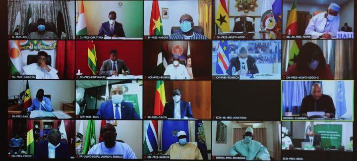 Le Chef de lEtat a pris part par visioconference au - Le Chef de l'Etat a pris part, par visioconférence, au 58e Sommet ordinaire de la CEDEAO