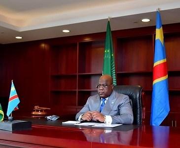 Felix Tshisekedi president de la Republique democratique du Congo et nouveau president de la Union africaine UA - L'Union africaine promeut la renaissance de l'Afrique à partir de ses racines culturelles