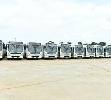 RDC : le dernier lot de 110 bus TRANSCO  réceptionné ce dimanche à Boma